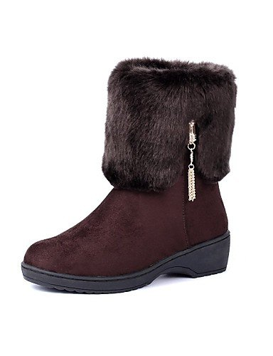 Nieve Casual Rojo 5 Plataforma Mujer Comfort Zapatos Cn39 Vellón Marrón Brown Xzz Botas Punta us8 us8 Negro Black Uk6 Cn40 Eu39 Redonda De Uk6 Vestido 5 tYTwvqx6