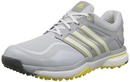 adidas Women's W Adipower S Boost Golf Shoe, Clear Grey/Running White/Light Yellow, 8.5 M US