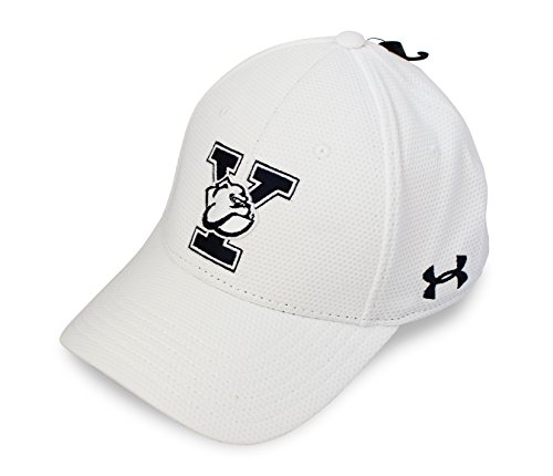 Baseball Yale University (Under Armour NCAA Blitzing Stretch Fit Hat, Yale University, White, S/M)