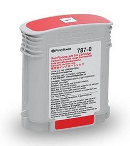 Genuine Original Pitney Bowes Brand 787-0 Standard Yield Fluorescent Red Ink Cartridge for Connect+ 1000/2000/3000 Series