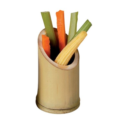 PacknWood Oblique Cut Bamboo Tube Cup, 3.5'' High (Case of 200) by PacknWood