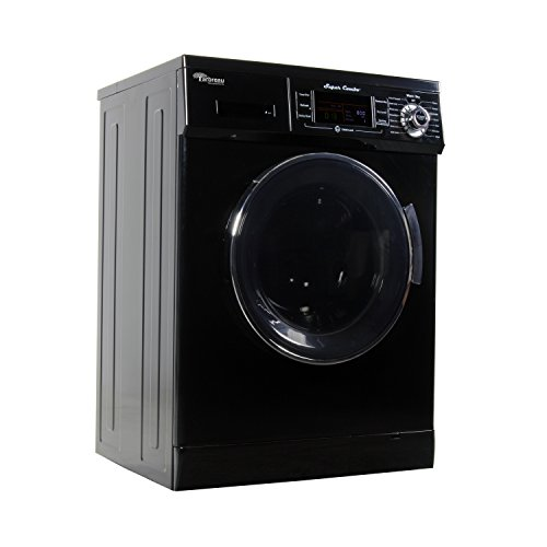Arbreau Compact New Combo Washer Dryer Black AW4400 CV with Venting/Condensing Drying 1.6 Cu.Ft 1200 RPM, Steel drum, Wash Cycles 7,Dry Cycles 11,Rinse Cycles 2, Automatic Water Level and Sensor Dry