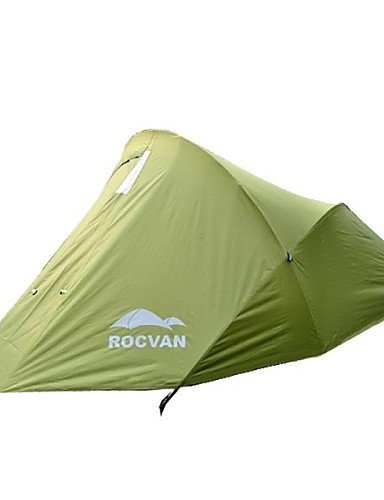 ZQ ROCVAN A059B 2 Person Double Layer Aluminum Pole Camping Tent