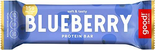 good! Snacks 15g Protein Plant Based Vegan Gluten Free Blueberry Protein Bar