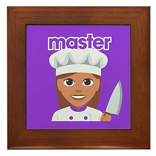 CafePress Master Chef Framed Tile, Decorative Tile Wall Hanging
