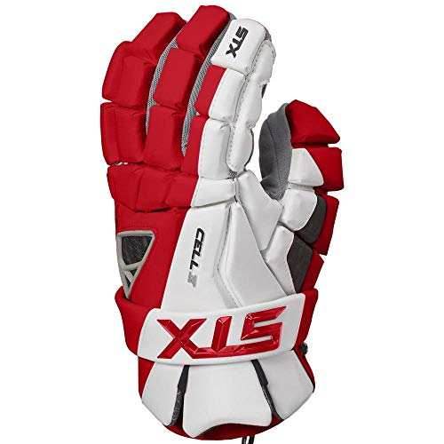 STX Lacrosse Cell 4 Gloves, Red, Large