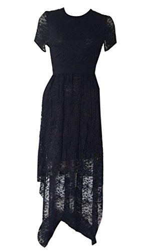 Long High Color Coolred Black Club Women's Dress Waist Pure Classic Lace Ufp0IpnX