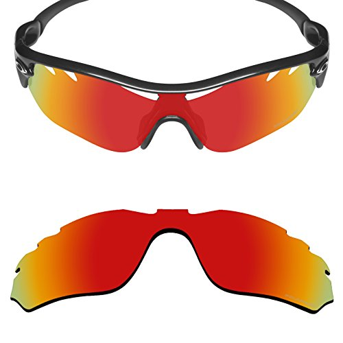 Mryok+ Polarized Replacement Lenses for Oakley Radar Edge Vented - Fire (Edge Replacement Lenses)