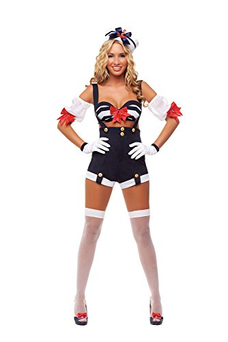 Starline Women's Makin' Waves Sexy Sailor Costume Set, Blue, Large