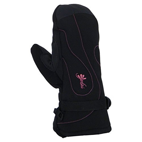 Gordini Women's Fall Line II Mitt 2016 (Black/Deep Pink Stitching, S) by Gordini