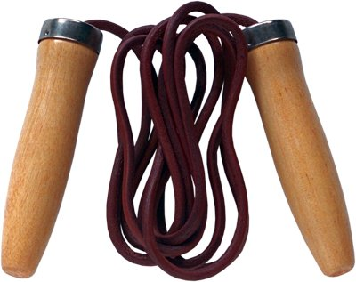 skipping rope with ball bearings and weights leather jum Golden Stallion