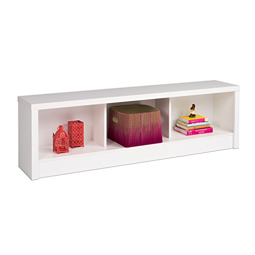 Prepac WUBD-0500-1 Calla Storage Bench, King, White, 3 Compartment,