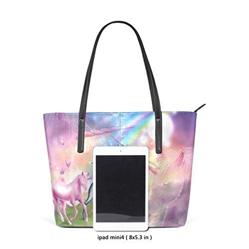 Coosun Unicorna PU Leder Schultertasche Handtasche und Handtaschen Tasche für Frauen dIeexH5