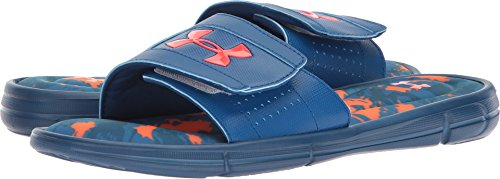 Under Armour Men's Ignite Breaker V Slide, Moroccan Blue (401)/Neon Coral, 8