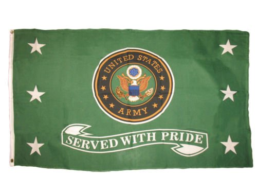Moon 3x5 US Army Green Served With Pride Premium Flag 3x5 Ve