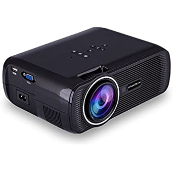 Projector 1080p - WhaleStone WS80 Portable LED Video Projector Home Theater HDMI/VGA/USB/AV/TV Support Projector 1080P 1200 Lumens Pico Projector