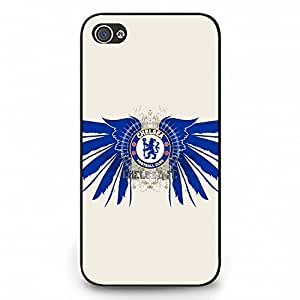 Iphone 4 Case,Chelsea Football Club Logo Protective Phone Case Black Hard Plastic Case Cover For Iphone 4