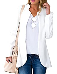 Choies Women's Fashion Casual Long Sleeve Slim Office Blazer With Stand Collar