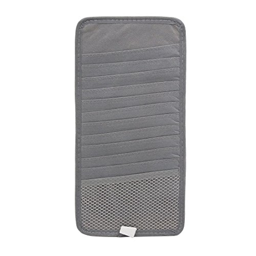 uxcell 2Pcs Gray Car Sun Visor 12 Disc CD DVD Case Wallet Storage Holder Organizer by uxcell