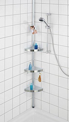 Wenko 20349100 estanter a telesc pica para la ducha for Colgador de ducha
