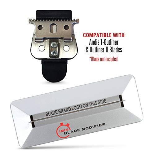 - 1Min Blade Modifier and 10 Sec Blade Setter Combo Set | On The Money Zero Gap Tool Compatible with Andis T OUTLINER Blades | The Key to The Sharpest Lines and Closest Shaves | by The Rich Barber