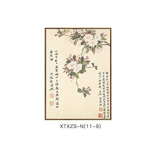 und DEED Schlafzimmermalerei Elegante Blumenmustermalerei Malerei Chinesische Elegante Wandmalerei botanische Wohnzimmerdekorationsmalerei C Dekorative Moderne rqzSrwYp
