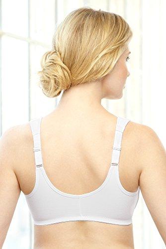 Glamorise - Sujetador para mujer Blanco