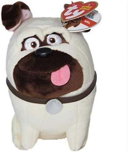 TY Beanie Baby MEL the Pug Dog -MWMTs Stuffed Animal Tot Secret Life of Pets