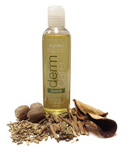 Herb Infused Massage Oil with Patchouli, Tangerine, Fennel, and Nutmeg - Serenity - 4 fluid ounces