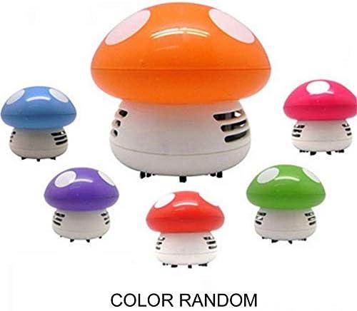 CloverUS Portable Cute Mini Mushroom Corner Desk Table Dust Vacuum Cleaner Sweeper