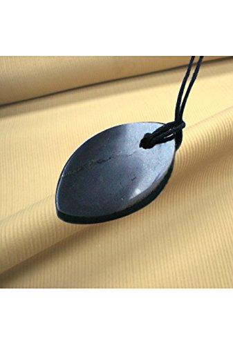 shungite-pendant-petal-talisman-amulet
