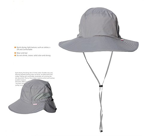 Hanxue Outdoor Oasis Sombrero Hat Sun Caps Uv Protection Breathable Hat Sport Hat Gray Free Size