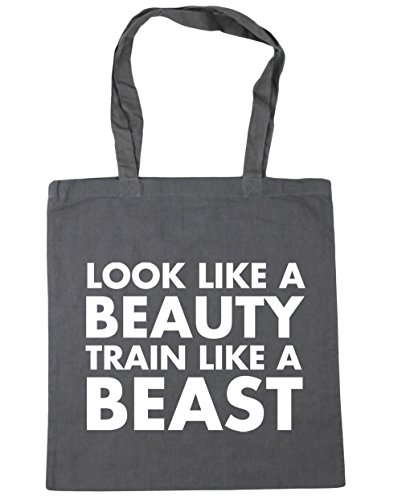 42cm Gym Bag a x38cm train a look HippoWarehouse Tote like Graphite like Beach Grey 10 litres beauty Shopping beast fw14nnOFqx