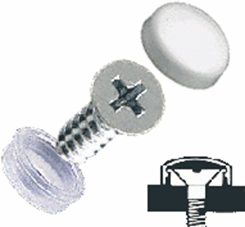 White Countersunk Large Screw Covers