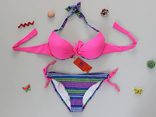 YONGYI Europa e il design elegante e Sexy estate spiaggia costume western grafica bikini sottili particelle di elegante di entrambi i pezzi del bikini di split, rosa serie L