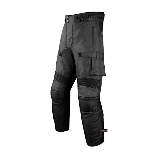 Motorcycle Textile Pants Waterproof Cruiser Touring Riding Armor Black 36w 30i by Jackets 4 Bikes (Image #1)