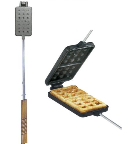 Rome's 1405 Waffle Iron with Steel and Wood Handles