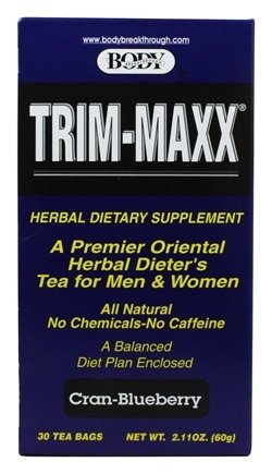 Maxx Trim (Body Breakthrough Trim-Maxx Herbal Dieters Tea Cran-blueberry, 30)