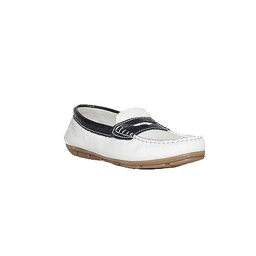 Zapatos Confort Mujer Woman Blancos Joyca Flex Mocasín Pretty 5080 hCxQsdtrBo