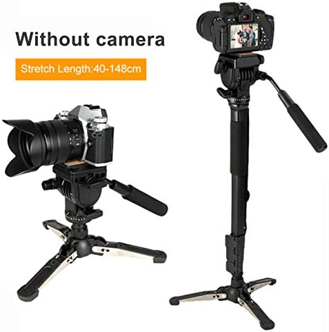 57-166cm Payload up to 3//6Kg Friendgo Extendable Camera Monopod Kit Telescopic Video Monopods Aluminum Alloy Stand with Removable Foldable Tripod Support Base for DSLR Video Cameras Camcorders