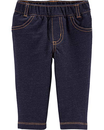 Carter's French Terry Knit Denim Pants,Blue,24 Months