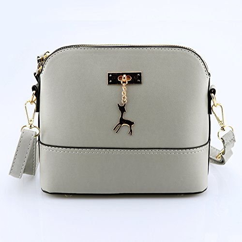 Shoulder Daily 2018 Leather Small Handbags Lady Student Gray Cheap Handbags Woman Hand IaYqtrIn4