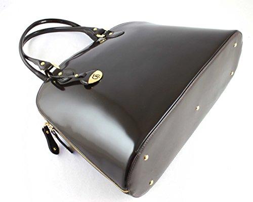 Women's Brown 8571 Dark Tonelli Gilda blue Bowling Bag White White Sv4nq