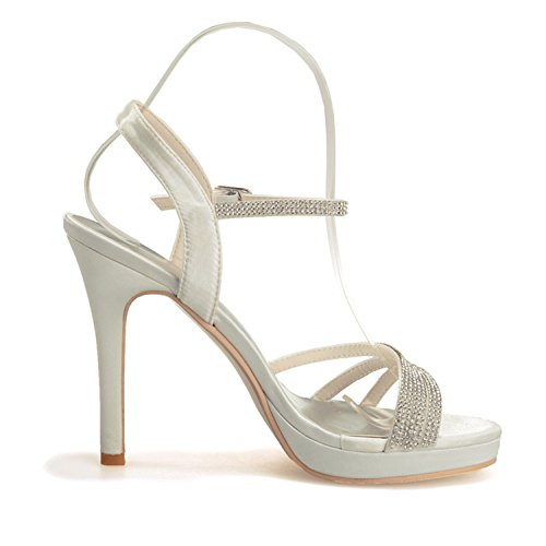 Fanciest Heel Pump Beaded High Bridal Party Plum Sandals Toe Wedding Women's Evening Open Shoes 16 5915 xxaPwA