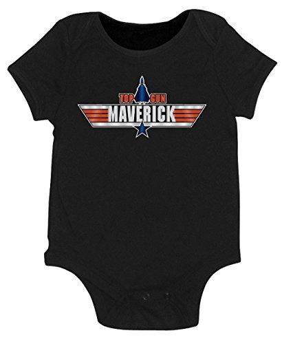 Plane Onesie - Top Gun Maverick Onesie (6 month, Black)