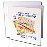 Florene Holiday - Image of Why is This Night Different On Matzoh - 6 Greeting Cards with envelopes (gc_235458_1)
