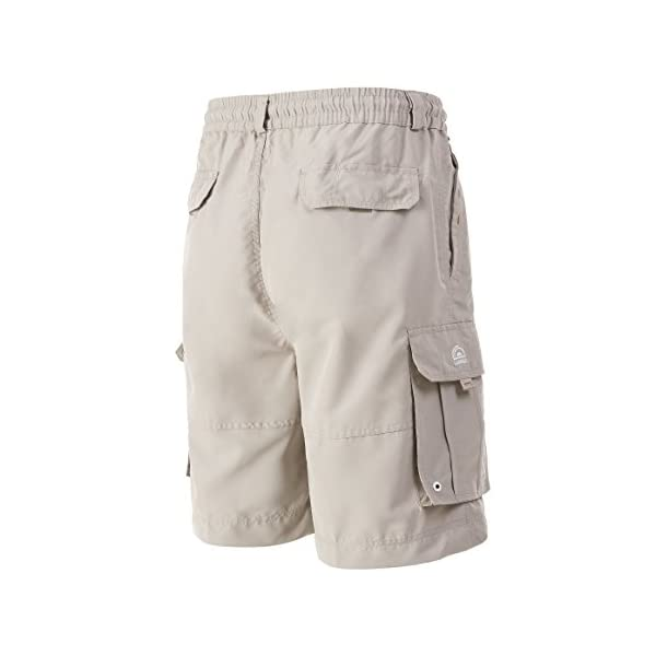 A.WAVE Outdoor Sports Cargo Short Elastic Waist Flat Front Quick Dry