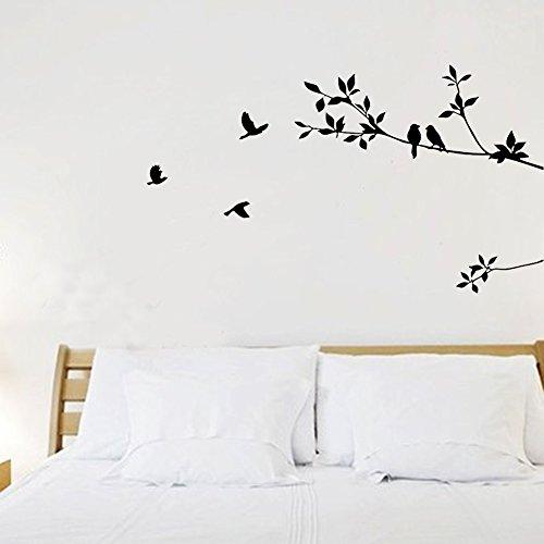 Abziehbare Wandtattoos Schlafzimmer Wohnzimmer Büro Kunst Wandstickers Aufklebers Vogel Zweig