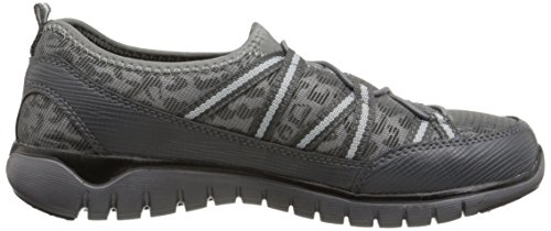 Propet Propet Femme Travellite Ghillie Casual Chaussure Gris Léopard