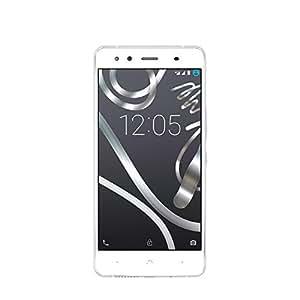 """BQ Aquaris X5 - Smartphone de 5"""" (WiFi, Qualcomm Snapdragon 412 Quad Core, 2 GB de RAM, memoria interna de 16 GB, cámara 13 MP, Android 5.1) blanco y plata - (Reacondicionado Certificado por BQ)"""